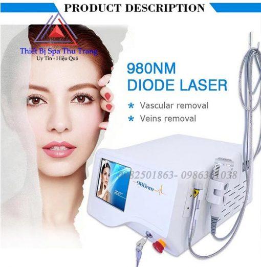 máy laser 980nm điều trị giãn mao mạch máu